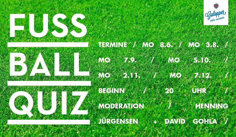 Flyer Fußballquiz Juni bis Dezember 2015